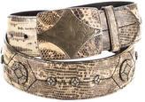 Prada Embroidered Lizard Belt