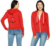 Peace Love World Novelty Zip Front AffirmationHoodie