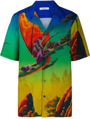 Valentino Dragons garden print shirt