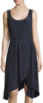 Calypso St. Barth Eliason Wrap-Skirt Sleeveless Dress, Navy