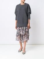 Jason Wu Cashmere Blend Plisse Pullover Sweater
