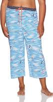 Hue Women's Plus Size Fashion Print Comfort Fit Capri Pajama Pant