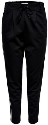 Only Straight Striped Trousers with Elasticated Waist