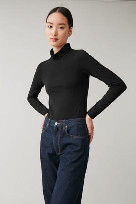 Cos Folded Neck Cotton-Mix Body