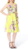 Tahari Print Faux Wrap Dress