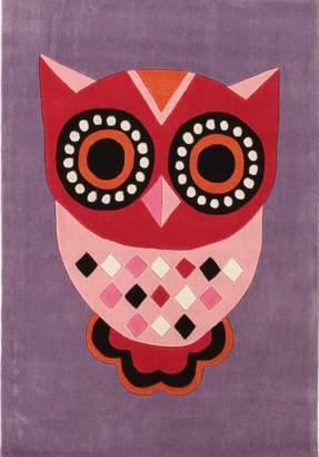 Unitex International Gorgeous Purple Owl Kids Rug