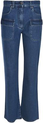 Alberta Ferretti Cargo Pocket Detail Jeans