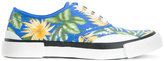 Julien David jungle print trainers - women - Cotton - 39