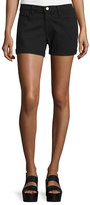 Frame Le Cutoff Rolled-Hem Shorts, Noir