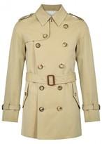 Alexander Mcqueen Stone Cotton Gabardine Trench Coat