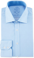 English Laundry Mini-Check Long-Sleeve Dress Shirt, Light Blue