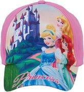 ABG Accessories Disney Princess Aurora, Ariel, and Cinderella Baseball Cap, 3-6 Years