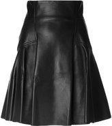 Alexander McQueen full panelled skirt - women - Silk/Calf Leather/Lamb Skin - 44