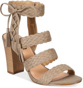 XOXO Binnie Strappy Block-Heel Sandals