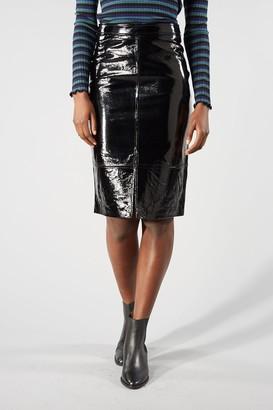 Selected Black Patent Hilda Skirt - 40