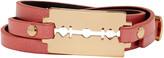 McQ by Alexander McQueen Pink Razor Triple Wrap Bracelet