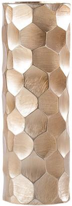 Torre & Tagus Linus Chiseled Brushed Cylinder Vase Medium