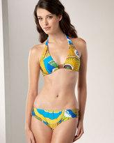 Indian Print Halter Bikini Top