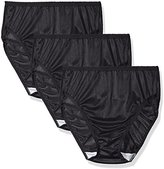 Shadowline Women's Panties-Hi Cut Nylon Brief (3 Pack)