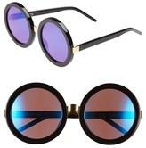 Wildfox Couture Women's 'Malibu Deluxe' 55Mm Retro Sunglasses - Black