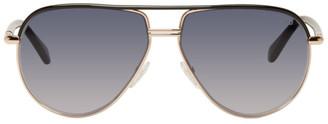 Tom Ford Black and Grey Cole Aviator Sunglasses