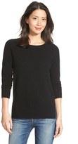 Petite Women's Halogen Crewneck Lightweight Cashmere Sweater