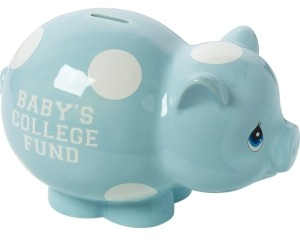 Precious Moments Baby's College Fund Piggy Bank, Boy