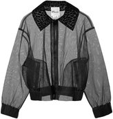 Comme des Garcons sheer cropped jacket
