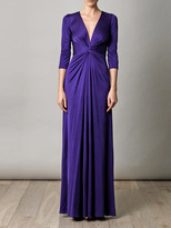 Issa Gathered-front full-length dress