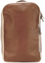 Qwstion - top handles backpack - unisex - Cotton/Leather - One Size