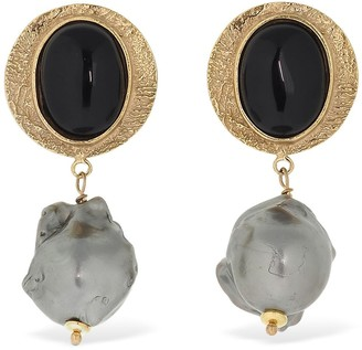 Magda Butrym Pansy Pearl Earrings