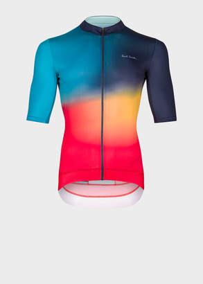 Paul Smith 'Artist Stripe Fade' Print Cycling Jersey