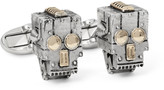 Paul Smith Robot Skull Silver and Gold-Tone Cufflinks