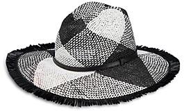 Helene Berman Woven Fringed Hat