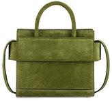 Givenchy Horizon Mini Suede Satchel Bag, Emerald