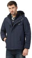 Mantaray Big And Tall Navy Hooded Tech Jacket