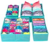 Sorbus Foldable Drawer Dividers, Storage Boxes - Set of 4 - Aqua