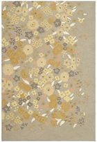 Martha Stewart Watercolor Garden Nutshell Wool Rug (3' 9 X 5' 9)