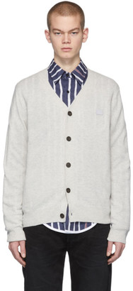 Acne Studios Grey Face Cardigan