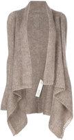 Rick Owens medium wrap cardigan - women - Mohair/Merino/nylon 12 - XS