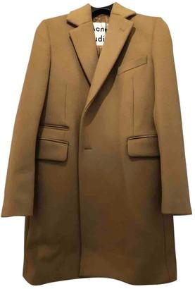 Acne Studios Camel Wool Coat for Women