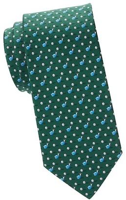 Salvatore Ferragamo Snail-Print Silk Tie