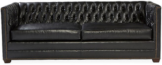 Michael Thomas Collection Ames Tuxedo Sofa - Black Leather