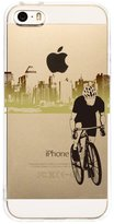 Qissy® TPU Cute dog Pattern Silicone Case Back Cover Skin Protector for iPhone 5/5S/SE