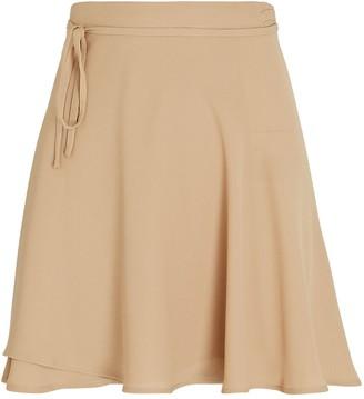 Sara Cristina Marino Mini Crepe Wrap Skirt