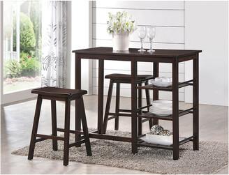 ACME Furniture Nyssa Counter Height Set 3Pc Set