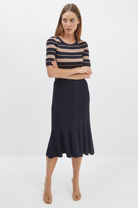 SABA Victoria Knit Midi Skirt