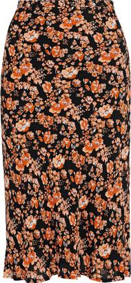 Baum und Pferdgarten Sanne Floral-print Crepe De Chine Skirt