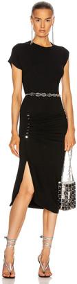 Paco Rabanne Side Ruched Dress in Black | FWRD