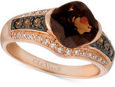LeVian Le Vian® Smoky Quartz (1-5/8 ct. t.w.) and Diamond (1/4 ct. t.w.) Ring in 14k Rose Gold
